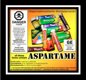 Aspartame danger to your brain