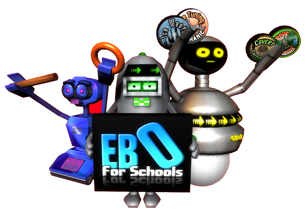 Illustration of EBO for Schools characters.